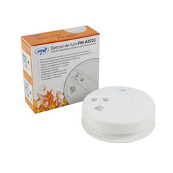 Senzor de fum PNI A022C functionare independenta sau conectat la un sistem de alarma wireless PNI PG200, PG300 sau 2700A