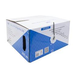 Cablu UTP CAT6e PNI U06 cu 4 perechi pentru internet 1 Gigabit si sisteme de supraveghere Rola 305m