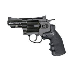 Revolver Dan Wesson 2.5 inch negru cu CO2 pentru airsoft calibru 6 mm