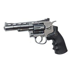 Revolver Dan Wesson 4 inch silver cu CO2 pentru airsoft calibru 6 mm