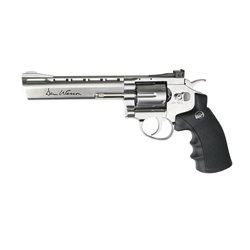 Revolver Dan Wesson 6 inch silver cu CO2 pentru airsoft calibru 6 mm