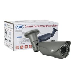 Camera supraveghere video PNI 1002CM lentila varifocala 2.8 - 12 mm, 1000 TVL 960H pt. interior si exterior IR 40 m