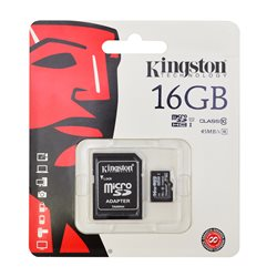 Card de memorie Kingston MicroSDHC 16GB Class 10 + Adaptor SD