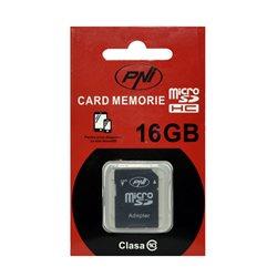 Card de memorie PNI Micro SDHC 16GB, Class 10 + Adaptor