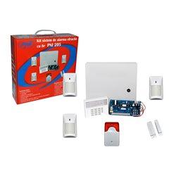 Kit sistem de alarma cu fir PNI 205 cu 3 senzori 1 contact magnetic si sirena