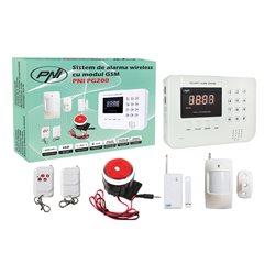 Sistem de alarma wireless PNI PG200 comunicator GSM/PTSN pentru 99 de zone wireless si 2 cu fir
