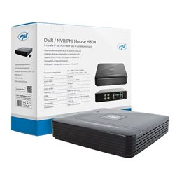DVR / NVR PNI House H804 - 8 canale IP full HD 1080P sau 4 canale analogice
