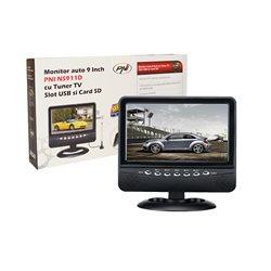 Monitor auto PNI NS911D cu ecran de 9 inch, tuner TV analogic, slot USB si cititor card SD
