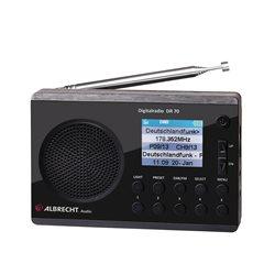 Radio digital DAB si FM Albrecht DR 70 cu display color 220V/baterii Cod 27370
