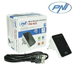 Mini Router wireless PNI N22 repetor cu amplificator de semnal si access point 300 Mbps