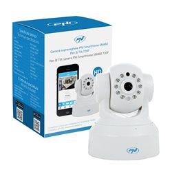 Camera supraveghere PNI SmartHome SM460 pan & tilt 720p controlabila prin internet, inregistreaza foto-video pe telefon