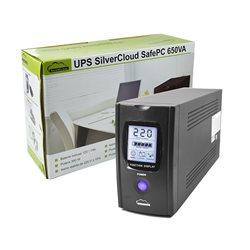 UPS SilverCloud SafePC 650VA cu ecran LCD si putere 390W