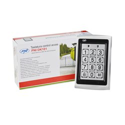 Tastatura control acces PNI DK101 stand alone antivandal cu cititor de card