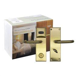 Yala control acces hotelier PNI CH2000L Gold cu cititor de card deschidere pe partea stanga