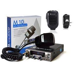 Kit Statie radio CB Midland M10 + Midland WA-DONGLE C1199 + Microfon cu Bluetooth WA-MIKE C1263
