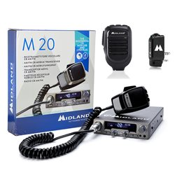 Kit Statie radio CB Midland M20 + Midland WA-DONGLE C1199 + Microfon cu Bluetooth WA-MIKE C1263