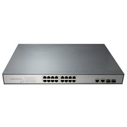 Switch POE PNI SWPOE16 cu 16 porturi 10/100Mbps si 2 porturi 10/100/1000Mbps