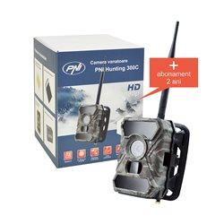 Camera vanatoare PNI Hunting 300C cu INTERNET + abonament 2 ani trimite foto NELIMITAT pe telefon, email Full HD 1080P
