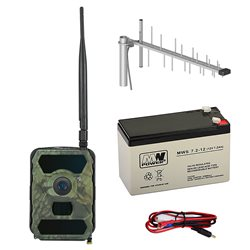 Kit camera vanatoare PNI Hunting 300C cu INTERNET + Acumulator + Antena GSM + Cablu + 2 ani abonament