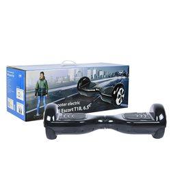 Scooter electric PNI Escort T1B roti 6.5 inch cu LED-uri fata, viteza maxima 12KM/h, greutate maxima 120Kg, Negru