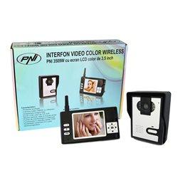 Interfon video color wireless model PNI 3509W cu ecran LCD de 3.5 inch